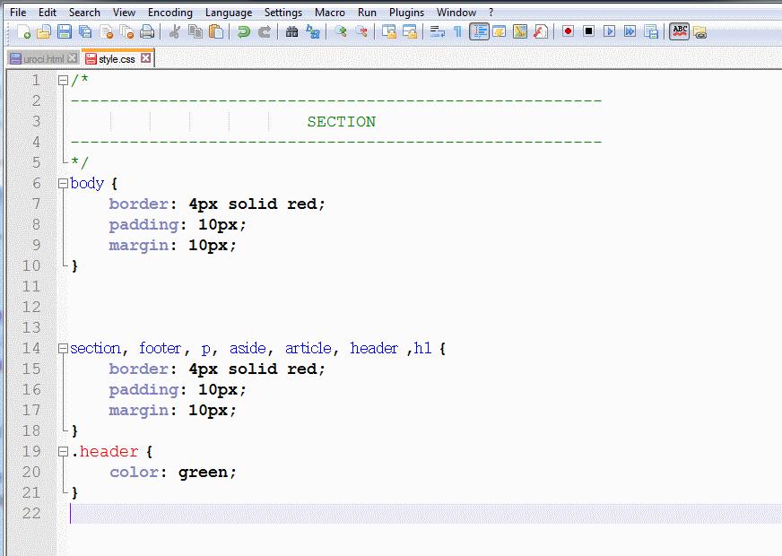 Изработка на сайт с HTML - коментари в CSS