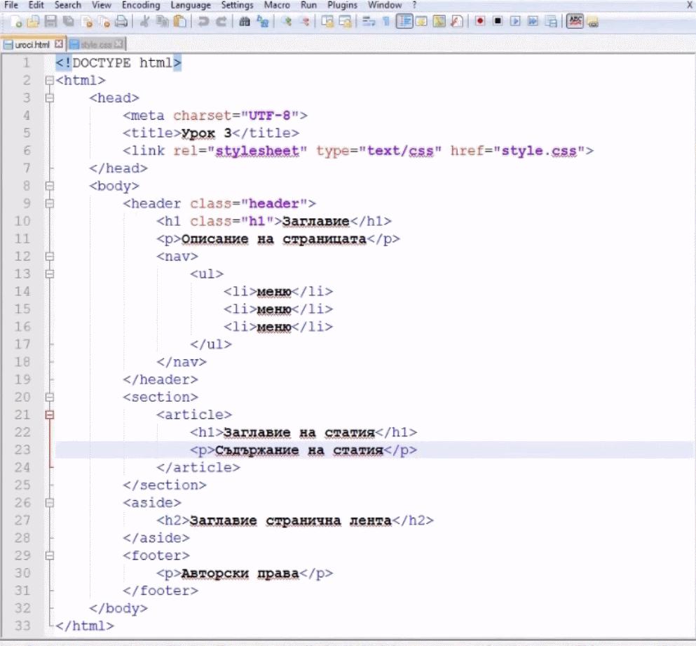 Изработка на сайт Правилно-подреден-HTML5-документ